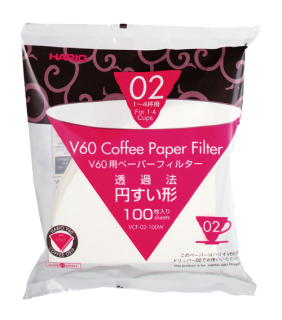 Paper Filter White for 02 Dripper 100sheets \ Filtri carta V60 2 tazze 100 pezzi