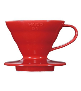 Coffee Dripper V60 01 Ceramic Red \ V60 ceramica rosso 1 tazza