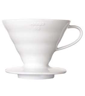 Coffee Dripper V60 02 Ceramic \ V60 ceramica bianca 2 tazze