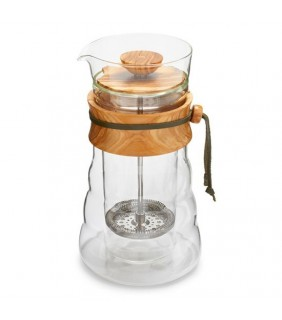 Double Glass Coffee Press Wood 300 ml\ French Press