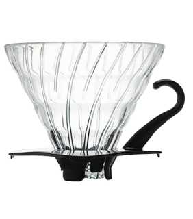 Glass Coffee Dripper V60 02 Black \ V60 vetro nero 2 tazze