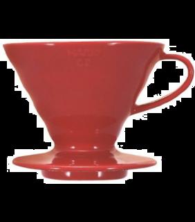 Coffee Dripper V60 02 Ceramic Red \ V60 ceramica rosso 2 tazze