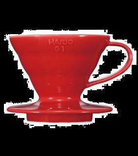 Coffee Dripper V60 01 Ceramic Red \ V60 ceramica rosso 1 tazza