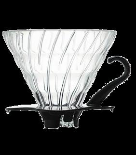 Glass Coffee Dripper V60 02 Black \ V60 vetro nero 2 tazze