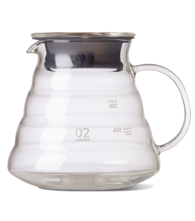 V60 Range Server 600ml Clear \ Caraffa vetro V60 600 ml